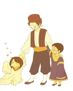 Hetalia-Young!Turkey with Little!Eygpt and Greece