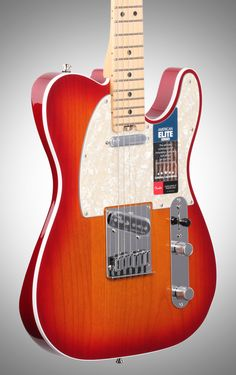 Fender American Elite Telecaster Electric Guitar (Maple, with Case),