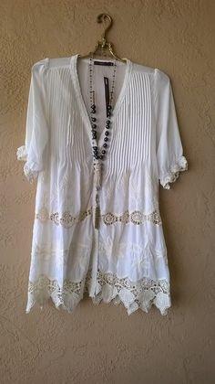 Hazel Anthropologie lace gypsy boho kimono with amazing crochet details / Bohemian Angel