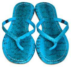 Mystique blue sandals