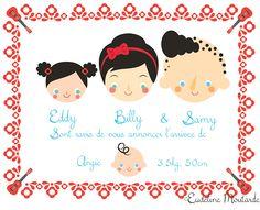Faire part de naissance by Mlle Moutarde