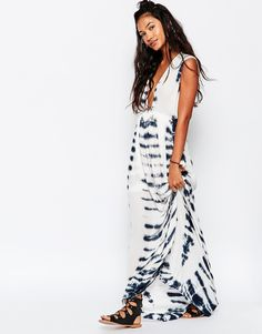 Image 1 of Surf Gypsy Tie Dye Beach Maxi Dress