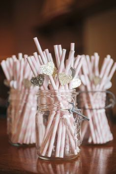 Such a cute touch for any cocktail hour or reception!