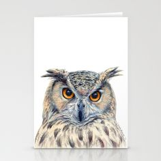 Eage Owl CC1404 Stationery Cards by S-Schukina - $12.00