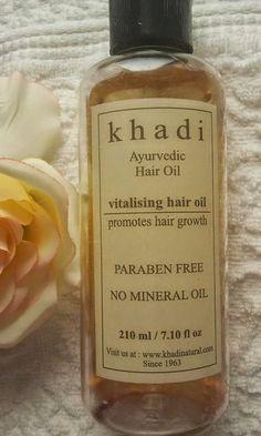 Khadi-Ayurvedic-Oil-vitalising-hair-oil Hair Growing, Grow Hair, Ayurvedic Hair Oil, Mineral Oil, Cosmetics, Grow Longer Hair, Hair Buildup, Hair Growth, Make Hair Grow