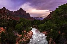 Take me back to the steep cliffs of the Zion National Park. I remember the short time we spent during a road trip out there over the summer exploring the valley. The river was too high to safely hike back inside the narrows but there was still plenty to enjoy! Even the sunset seemed to disappoint at first turning into a nice purple glow later on instead! I definitely am looking forward to making a return trip sometime soon.