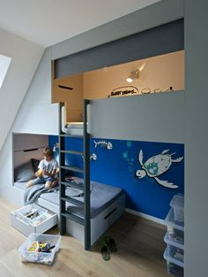 Barbora Léblová Designs A Boy's Bedroom With A Loft Bed