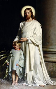 """""""Christ and Child"""" (1873) - Carl Bloch (1834-1890)."""