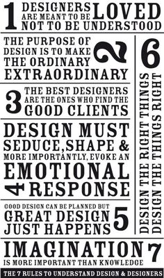 7 rules for design