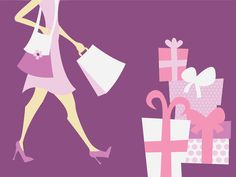 Shopping Background Powerpoint Templates - Beauty & Fashion - Free PPT Backgrounds and Templates Background Powerpoint, Purple Backgrounds, Girls Shopping, Fashion Beauty, Templates, Illustration, Free, Design, Pageants