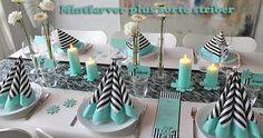 mint farvet borddækning til konfirmation inspiration