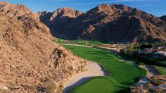 """La Quinta Resort & Club, a Waldorf Astoria Resort, Palm Springs, California. With five public courses and the Jim McLean Golf School, this resort is host to the final stage of the PGA Qualifying Tour. """"How Much are Your Clubs Worth?"""" www.iGolfValueGuide.com"""