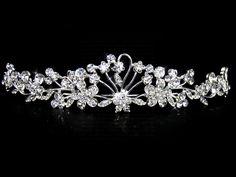 Headpieces - $22.99 - Attractive Clear Crystals Wedding Bridal Tiara (042004253) http://jenjenhouse.com/Attractive-Clear-Crystals-Wedding-Bridal-Tiara-(042004253)-g4253