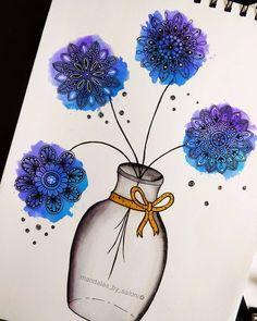 Doodle Art Drawing, Mandala Drawing, Cool Art Drawings, Art Drawings Sketches, Simple Drawings, Mandala Tattoo, Pencil Drawings, Mandala Art Lesson, Mandala Artwork