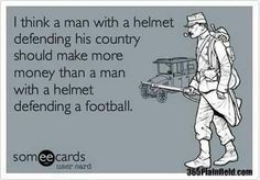 True that! It is an embarrassment that pro-ballers make millions and our troops/vets are basically left to fend for themselves!