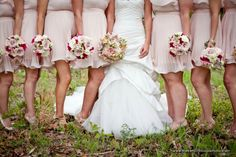 Love the bridesmaids bouquets!!