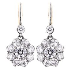 Shop diamond and pearl dangle earrings and other vintage and antique earrings from the world's best jewelry dealers. Diamond Drop Earrings, Dangle Earrings, Circlet, Antique Earrings, Brilliant Diamond, Bridal Accessories, Fine Jewelry, Jewellery, Jewels