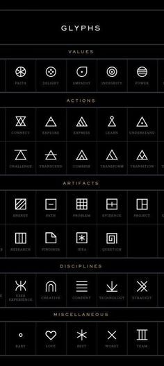 tattoos -                                                      Look at these symbols when you need inspiration for geometric #tattoos I love the one for understand.
