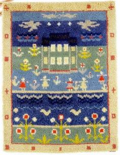 Wetterhoff - Ryijyt - KEVÄTKESÄ VALMIINA Rya Rug, Weaving, Kids Rugs, Quilts, Blanket, Wall, Home Decor, Decoration Home, Kid Friendly Rugs