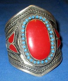 The Lapis Connection, eBAY. Bracelet-NEW-SHINY-Carnelian-Cuff-Afghan-Kuchi-Tribal-Alpaca-Silver-3-034-dia