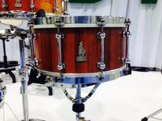 Beautiful Brady snare outfitted with Angel Drum hoops.