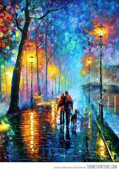One of the most amazing oil paintings by artist Leonid Afremov... - The Meta Picture