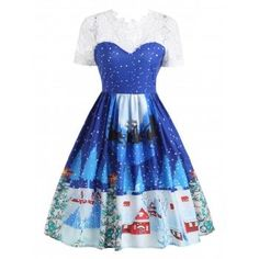 SHARE & Get it FREE | Lace Panel Christmas Print 50s Swing DressFor Fashion Lovers only:80,000+ Items·FREE SHIPPING Join Dresslily: Get YOUR $50 NOW!