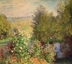 A Corner of the garden at Montgeron by Claude Monet - Bridgeman Art Library - Fine Art America