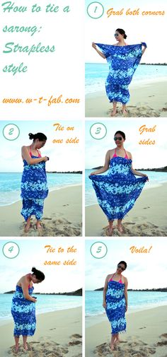 How to tie a sarong ~ Strapless style