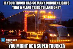 https://truckerpath.com/trucker-path-app/ Super Trucker Funny Truck Meme #Truck #TruckMeme #Bigrig #meme