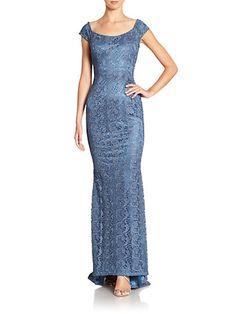 Carmen Marc Valvo - Guipure Lace Gown - Saks.com
