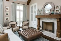 Reclaimed Wood Fireplace. Reclaimed Wood and White Marble Fireplace. Reclaimed Wood Fireplace Ideas #ReclaimedWoodFireplace Artisan Signature Homes.