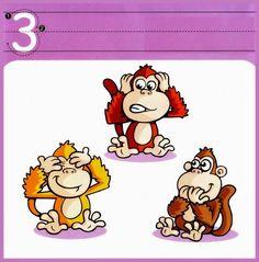 Cartazes de numerais de 1 a 10 coloridos de animais para a parede - ESPAÇO EDUCAR
