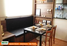 Apartamento decorado 2 quartos do Spazio Beach no bairro Chácara Letônia | Iate Clube - Americana - SP - MRV Engenharia - MRV Engenharia - Sala de Jantar