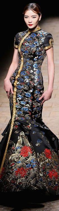 Zhang Zhifeng 2015 China Fashion Week- exotic/ dramatic fashion