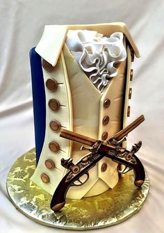 Hamilton the musical cake by Mike's Amazing Cakes Pretty Cakes, Beautiful Cakes, Amazing Cakes, Cupcakes, Cupcake Cakes, Shoe Cakes, Cake Wrecks, Cakes For Men, Just Cakes