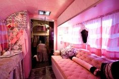An Airstream Trailer . Pretty in pink~!~