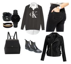 """""""Black&White - keep it simple"""" by laura-f-mota on Polyvore featuring LE3NO, Calvin Klein, ASOS, Lemon Jelly, Kate Spade, Miss Selfridge, Hermès, CLUSE and Vita Fede"""