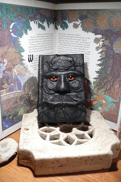 Mythical Beast Book Black leather with by AbbotsHollowStudios  Reminds me of the Rock Eater from Neverending Story! so cool