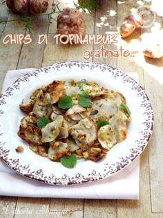 Chips di topinambur gratinate
