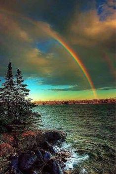 Beautiful Sky, Beautiful Landscapes, Beautiful World, Beautiful Places, All Nature, Amazing Nature, Rainbow Promise, Landscape Photography, Nature Photography