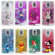 New 2015 Glitter Star Liquid Cheshire Cat Cartoon Characters Back Hard Cover Case for Samsung Galaxy S5 i9600