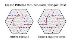 Origami Tessellation Basics: Open-Back Hexagon Twist