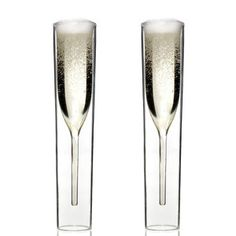 Inside Out champagne glasses by Alissia Melka are in mouth-blown, double-walled borosilicate glass. Inside Out champagne glasses are… Flute Champagne, Champagne Glasses, Wedding Glasses, Design3000, Shops, Hand Blown Glass, Inside Out, Tech Accessories, Unique Gifts