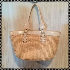 "LIZ CLAIBORNE Straw Bag Perfect for summer and the beach. Some parts around the opening and handles needing edge ink but does not affect the beauty of it. Approximately measures 10""H x 16"" x 5 1/2""Depth. Items in my closet are all packed and most offers are accepted. Liz Claiborne Bags Totes"