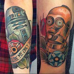 Awesome Star Wars tattoos by Alex Dörfler