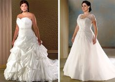 plus sized wedding dresses- the first one