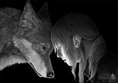 werewolf artwork | ... Picture (2d, illustration, wolf, human, werewolf, kindred, fantasy