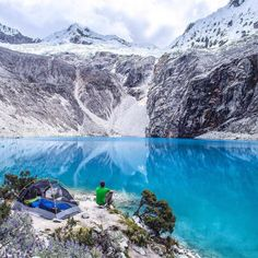 mthrworld: Laguna 69 Peru by: @moonmountainman #peru #lake