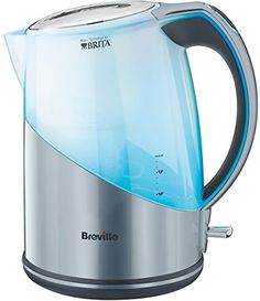 1 x Brita Maxtra Catridge. The Breville kettle combines a modern, silver Plastic finish with Brita filter technology for the clearest, cleanest, best water possible. 1 x Breville Brita Filter Kettle. Stainless Steel Kettle, Brushed Stainless Steel, Espresso, Brita Water Filter, Water Filters, Perfect Cup Of Tea, Recycling Bins, Small Appliances, Bucket Lists